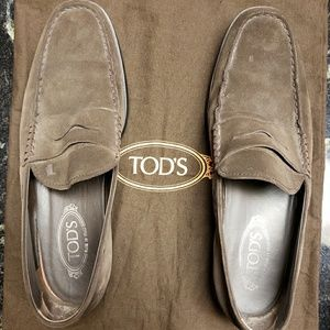 Mens Tod's Brown Suede loafers